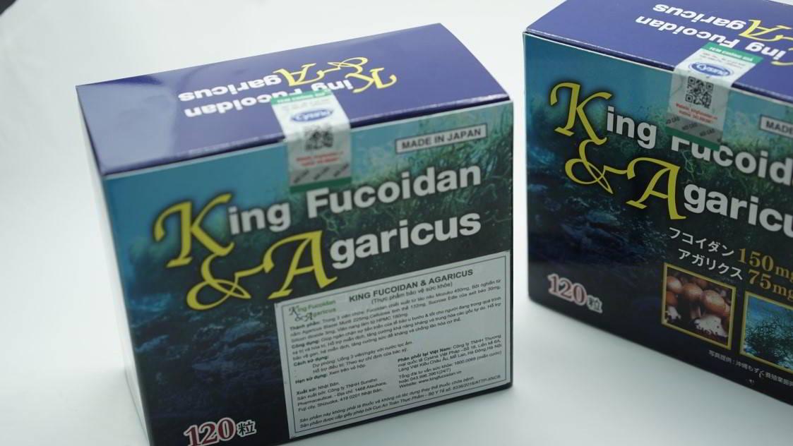nhãn phụ của fucoidan nhật bản chính hãng