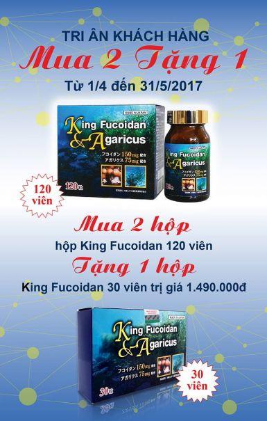 Chương trình bán hàng tháng 4 - sản phẩm King Fucoidan & Agaricus